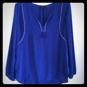 J. Crew blue blouse